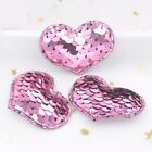 16pcs Sequins Heart Glitter Appliques Sewing Embroidery Patches Crafts Hair Clip