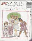 Mccalls Sewing Pattern 7075 Childrens Jumpsuit And Romper Choose Size