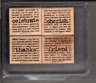Choice Mounted Used Stampin Up Stamp Set In Plastic Storage Container