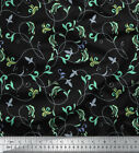 Soimoi Fabric Artistic Leaves Fabric Prints By Yard - Lf-625a