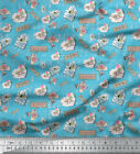 Soimoi Fabric Floral Letter Vintage Print Fabric By The Yard - Vt-502b
