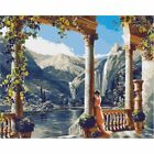 Diy Acrylic Scenery Paint By Number Kit Oil Painting On Canvas Craft Home Decor