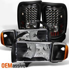 Fit 1999-2002 Dodge Ram Sport Model Black Headlightsled Tail Brake Lights