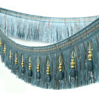 1m Beaded Tassel Fringe Trim Curtain Sewing Lace Trim Diy Crafts Upholstery