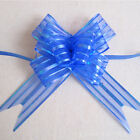 10x Large 50mm Ribbon Pull Bows Wedding Car Decoration Gift Wrap Colourful 7
