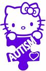 Autism Decal Hello Kitty Puzzle Awareness Truck Car Vinyl Sticker 8 Colors