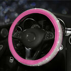 Bling Sparkle Crystal Rhinestone Car Steering Wheel Cover Car Leather Accessorie
