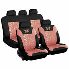 9pcs Universal Auto Seat Cover For Car Truck Suv Van Butterfly 3d Print Pattern