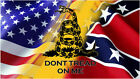 Dont Tread On Me American Faded Flag Vinyl Decal Gloss Sticker Uv Laminated