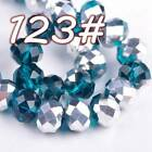 72pcs 8mm Rondelle Faceted Crystal Glass Loose Spacer Beads Findings 250 Colors