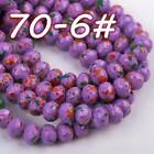 72pcs 8mm Rondelle Faceted Crystal Glass Loose Spacer Beads Findings 200 Colors