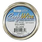 Twist-square-12 Round Bead Smith Wire Soft Tempered 18-21 Gauge 6 Colors
