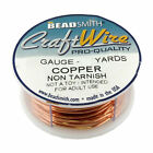 12 Colors Bead Smith Copper Round Craft Wire 18-20-22-24-26-28 Gauge