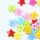 Diy Sewing Craft 100pcs Mixed Colors New Star Shape 2 Holes Cute Plastic Buttons