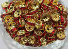 New 50100pcs Acrylic Gold Plated Spacer Loose Beads Charms Jewelry Findings 8mm