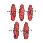 15pcs Oval Murano Handmade Flowers Lampwork Glass Jewelry Findings Beads 43mm