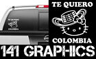 Paisa Hello Kitty Te Quiero Colombia I Love Colombia Vinyl Car Decal Sticker