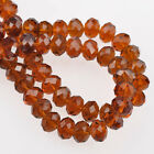 Wholesale 1012141618mm Rondelle Faceted Crystal Glass Loose Spacer Beads Diy