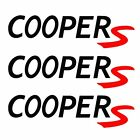 3x Cooper S Mini Jcw Works Vinyl Decals Stickers R53 R56 R60 3x0.8