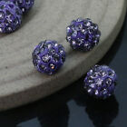 100pcs Czech Crystal Rhinestones Pave Clay Round Disco Ball Spacer Beads 6-12mm