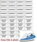 Small White Iron On Personalised Name Clothing Labels 2209mm - Warm Wash