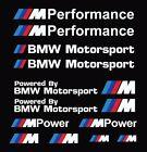 M Performance Power Motorsport Car Stickers Decals Kit Sets For Bmw 15x15 Cm