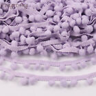 20yards Pom Pom Mini Bobble Ball Trim Fringe Ribbon Sewing Accessory Lace 10mm H