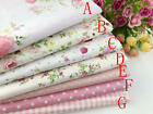 19x19 Pink Fat Quarter Bundle Quilt Quilting 100cotton Fabric Sewing Diy