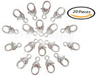 20 Pieces Heart Shape Lobster Claw Clasps Diy Jewelry Findings Goldsilver