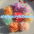 20-100pcs 824mm Resin Carved Rose Flower Jewelry Diy Charms Loose Spacer Beads