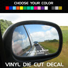 Objects In Mirror Are Losing Funny Racing Decal For Side Mirror Universal Fit