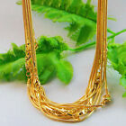5x Goldsilver Snake Chain Long Necklace With Clasp Diy Jewelry Making Craft Hot