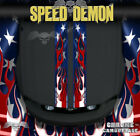 Ford Mustang American Flag Rally Double Racing Stripes Graphics Decals