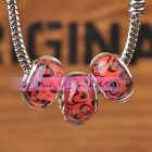 Hot 10pcs 14x9mm Resin Round Charms European Bracelet Loose Large Hole Beads