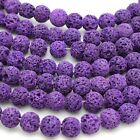 Dyed Lava Rock Beads 8mm Round 15.5 Inch Strand Volcanic Pick Color