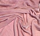 Hand Dyed Lambs Ear Pale Pink Silk Velvet Fabric