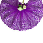 Morning Glory Floral Scallop Lace Edge Trim Embroidered Tulle Diy Sewing Craft