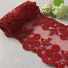 Lace Trim Fabric Ribbon Double Scalloped Applique Embroidered Sewing 4.5 1yard
