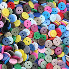 Lots 100pcs Mixed Colors Resin Buttons 2 Holes Diy Sewing Crafts Art 9-25 Mm