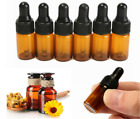Lots 3ml Amber Small Glass Tiny Dropper Bottles Vials For Essential Oilsampling