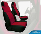 Genuine Neoprene Front Rear Custom Tailored Seat Covers For Jeep Wrangler Tj