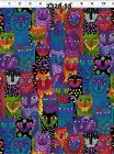 Laurel Burch Wild Ones - Assorted Cotton Flannel Prints To Quilt Or Sew