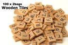 200 Pcs Wooden Alphabet Scrabble Tiles Black Lettersnumbers For Crafts Wood New