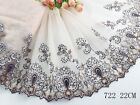 1 Yard Delicate Embroidered Flower Tulle Lace Trim Weddingsewingcraft Lace 61