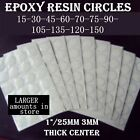 15-150 Epoxy Resin Stickers 125mm Circle Clear Dome For Bottle Caps 1 Etc