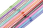 Lots 2.4mm 520pcs Metal Bead Chain Extension Necklace Jewelry Making Supplies