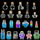 10pcs Transparent Message Vials Small Glass Empty Jars With Cork Wishing Bottles