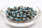 New 3050pcs Cloisonne Bead Enamel Round Ball Spacer Loose Metal Beads 6mm 8mm