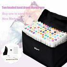 Markers Pen Twin Tip Art Graphic Sketch 80 Slot Organizer Case Bag F Touch Five