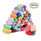 50 Multi-colors Wool Roving Felting Starting Set Wool Fiber Handcraft Kit Us